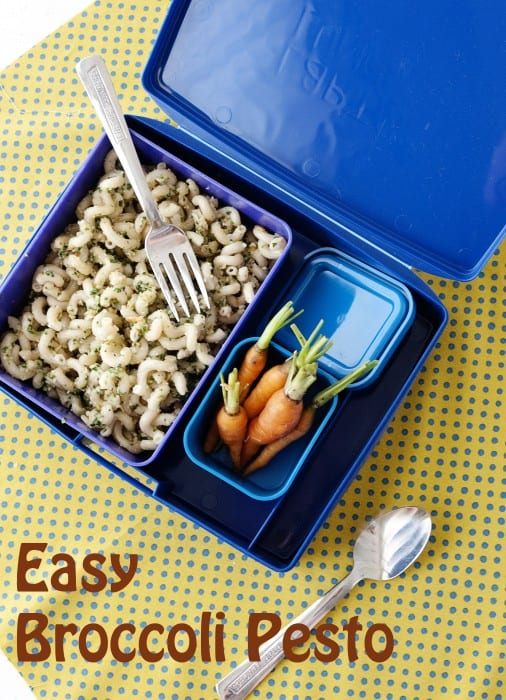 Easy Broccoli Pesto - MOMables® - Healthy School Lunch Ideas