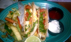 grilled tacos with chimichurri sauce