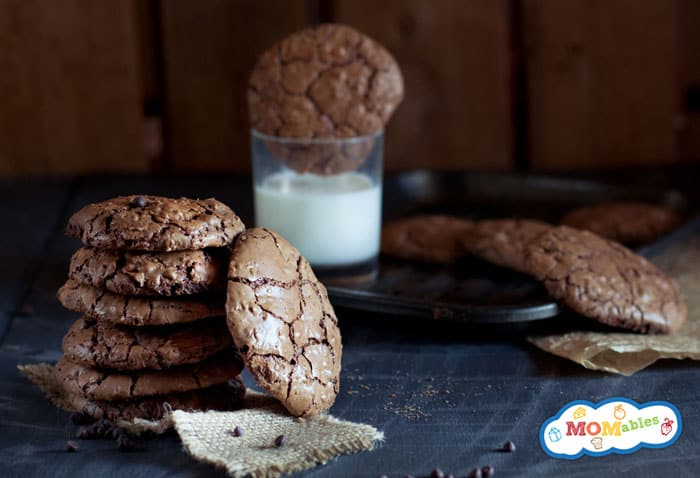delicious triple chocolate chip cookies!