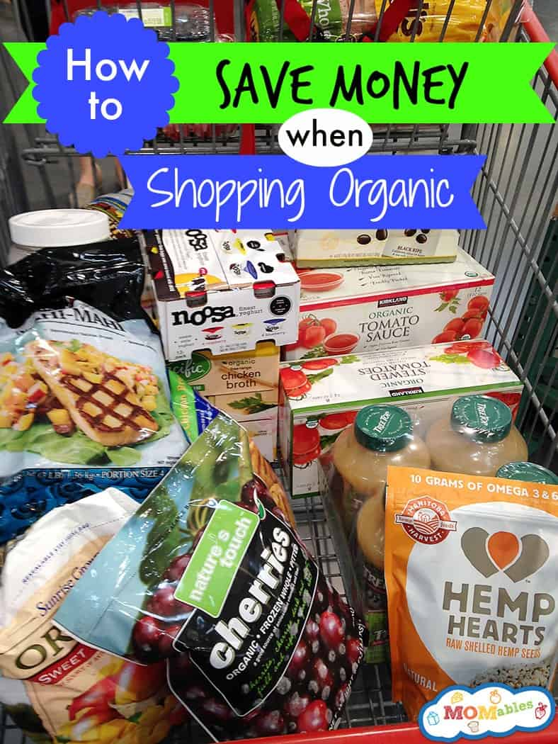 how to save money when shopping organic