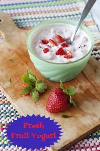 How to Make Fresh Fruit Yogurt MOMables.com