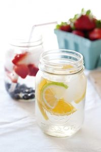 fresh fruit water
