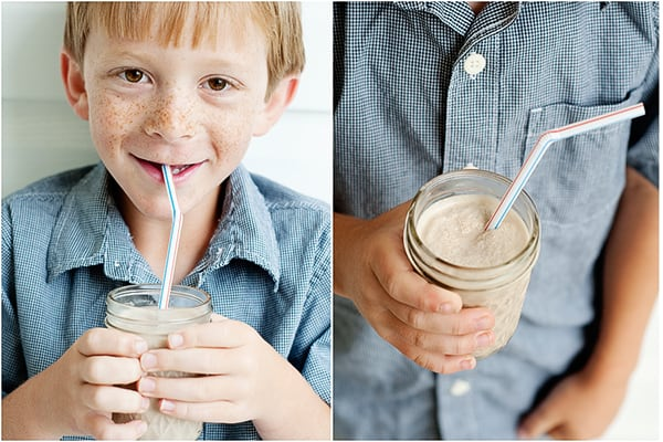 chocolate peanut butter smoothie Kids will absolutely LOVE
