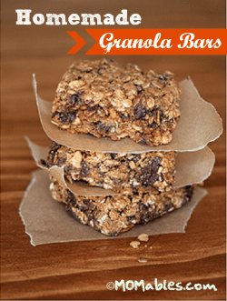 Homemade Granola Bars - MOMables.com