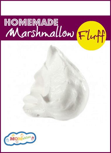 homemade marshmallow fluff recipe via MOMables.com