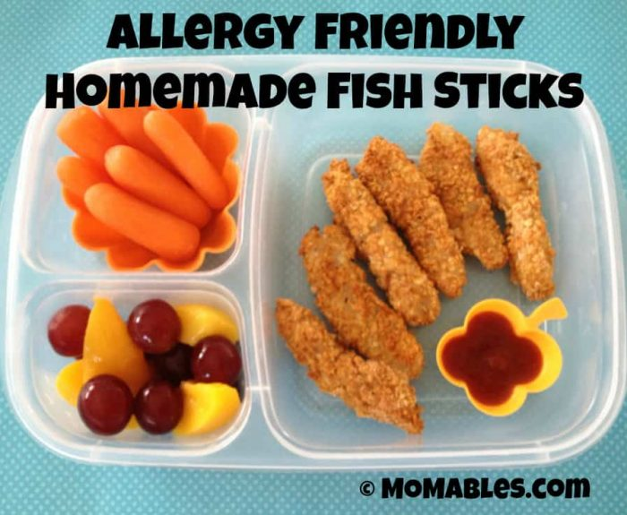 gluten free, egg free, dairy free, homemade fish sticks kids will love