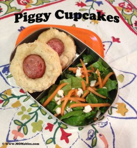 Piggy Cupcakes for Lunch