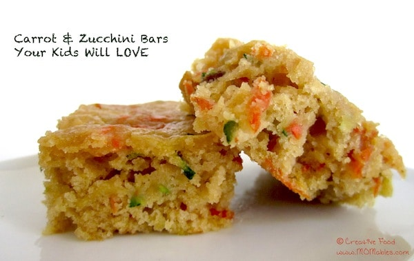 Carrot and Zucchini Bars Your Kids Will LOVE - MOMables® - Good Food ...