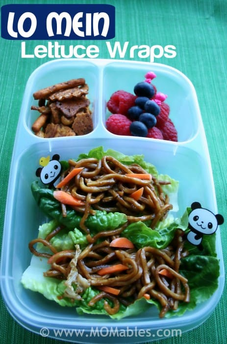 Lo Mein Lettuce Wraps for Lunch #lunchrevolution