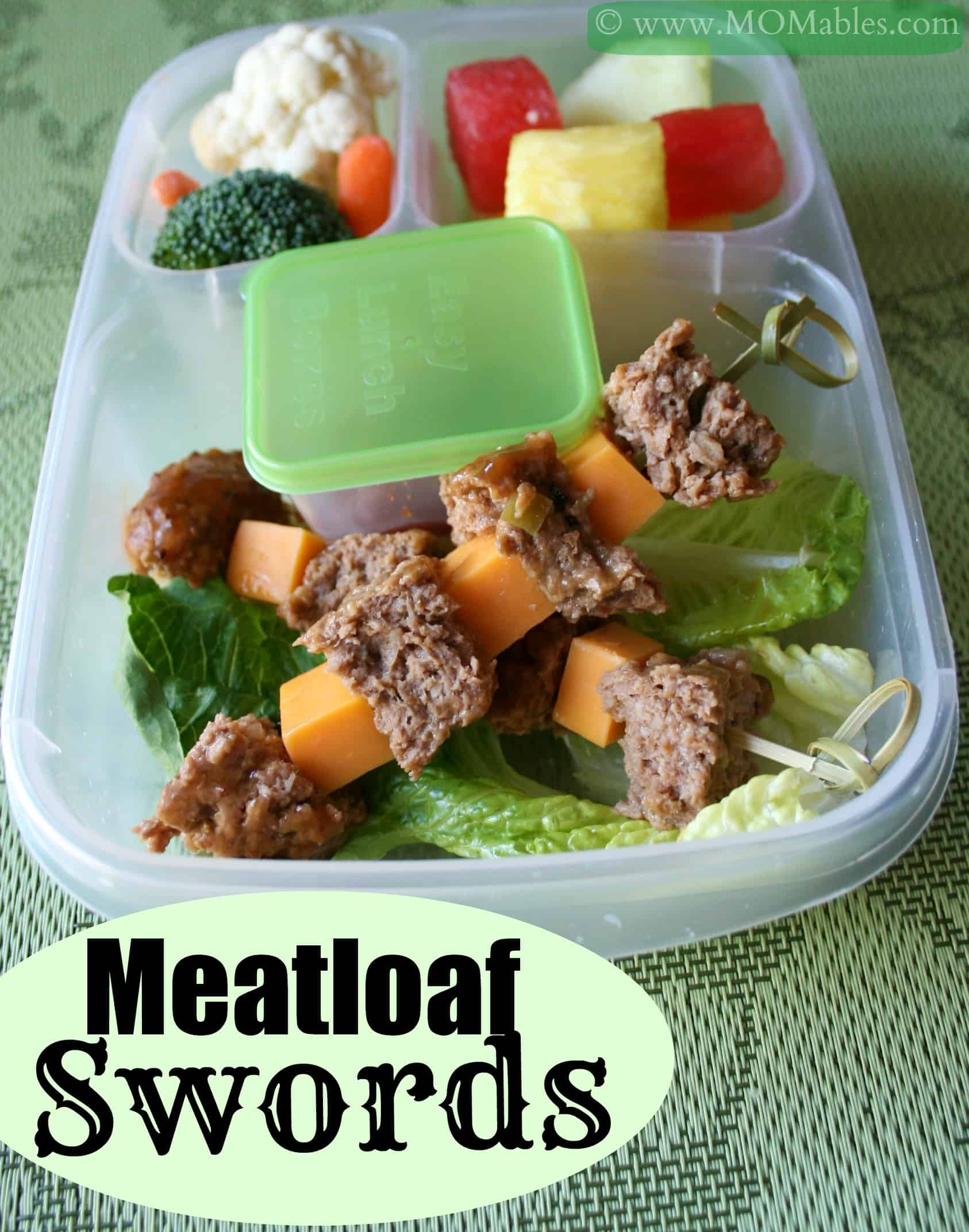 Kids Veggie Meatloaf Swords Lunch