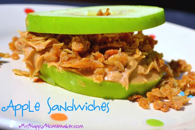 apple sandwiches on MOMables.com