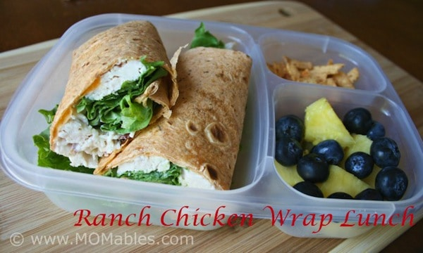 ranch chicken wraps lunch MOMables.com