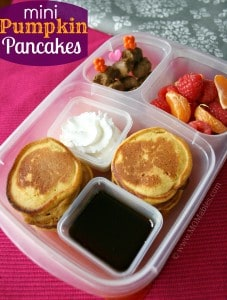 Mini Pumpkin Pancakes Lunch