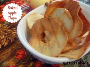 Easy Baked Apple Chips via momables.com