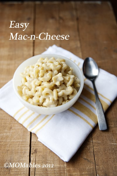 Easy creamy mac and cheese MOMables.com
