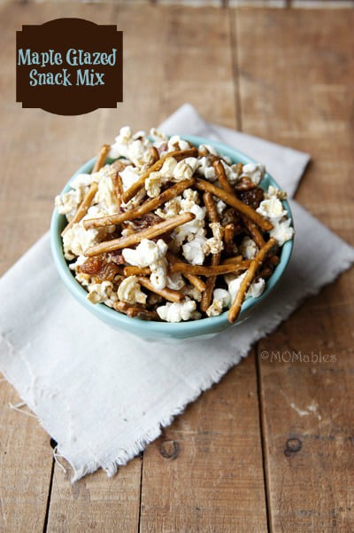 maple glazed raisin and friends snack mix MOMables.com