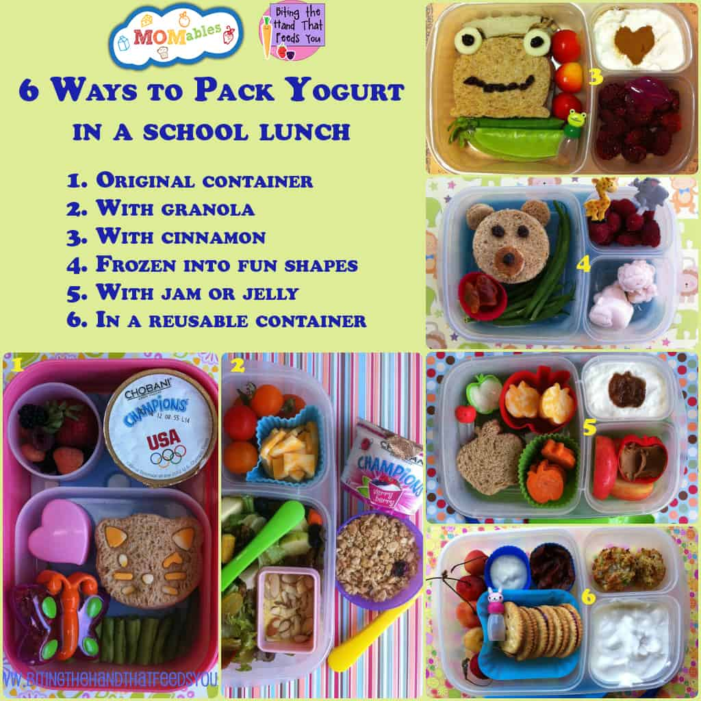 6 ways to pack yogurt in a school lunch MOMables.com