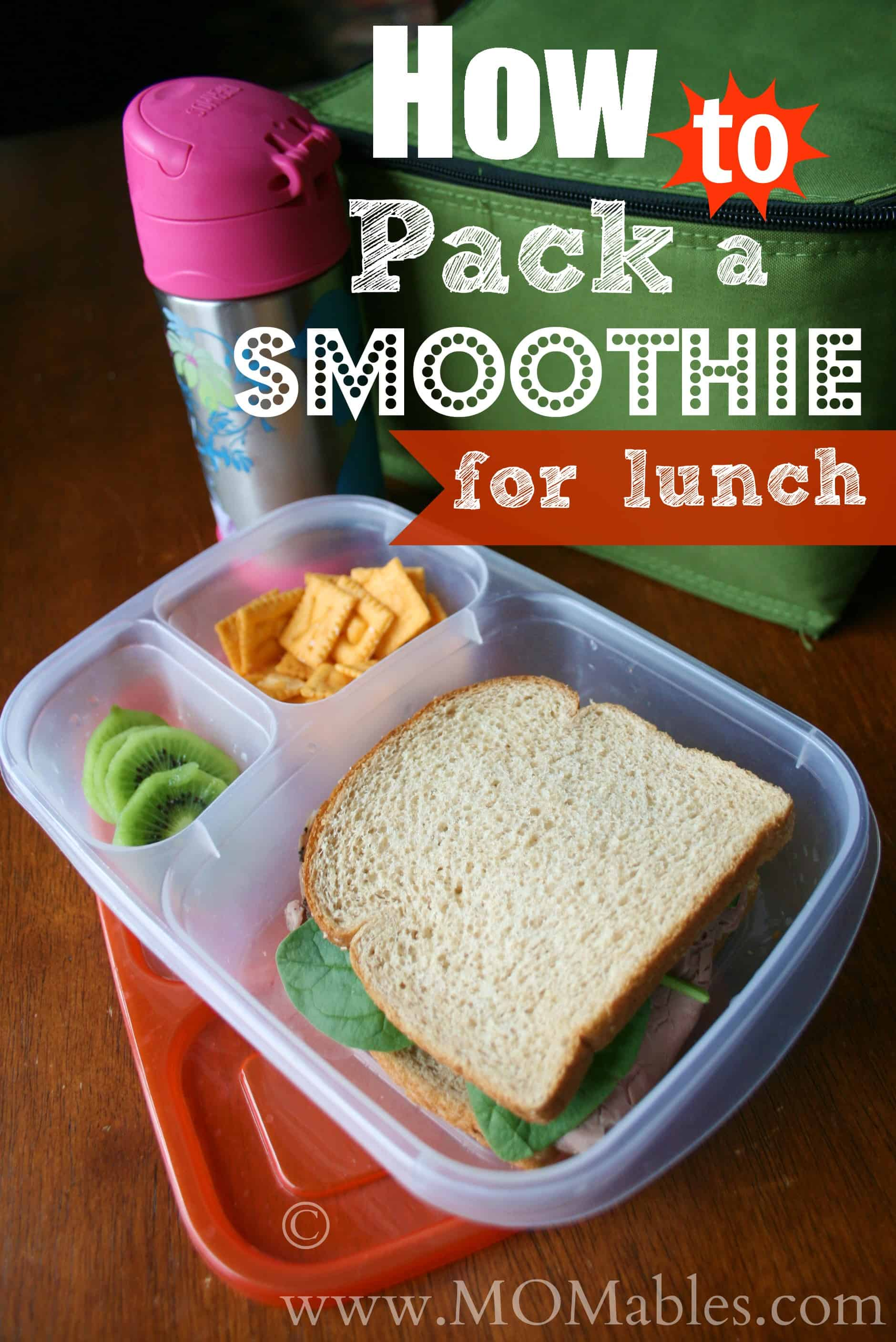 How to pack a smoothie for lunch