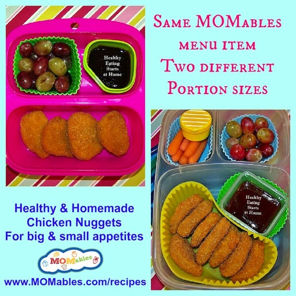 chicken nuggets for school lunch MOMables.com