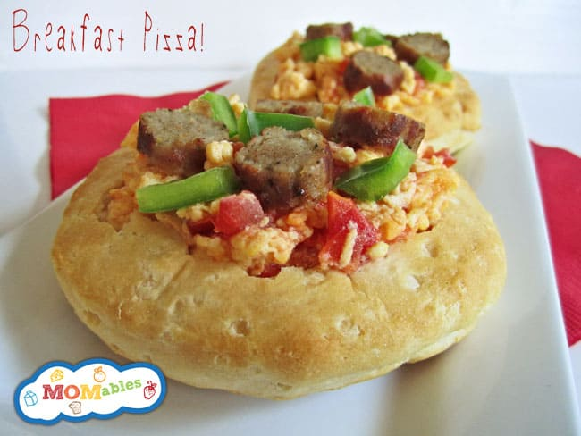 breakfast pizzas MOMables.com