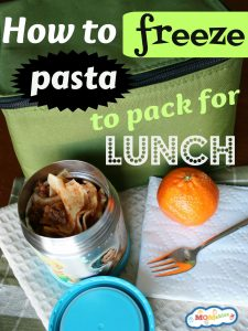 How to freeze pasta to pack for school lunch