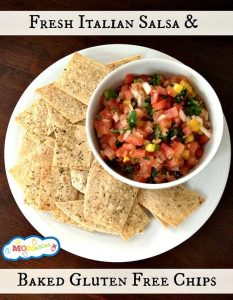 Fresh Italian Salsa and Baked Gluten-Free Chips