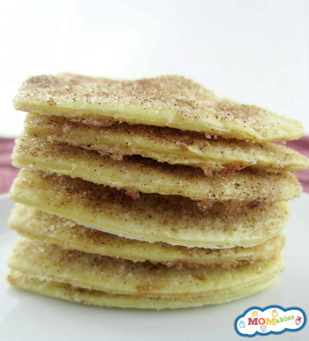 Stacked baked cinnamon chips MOMables