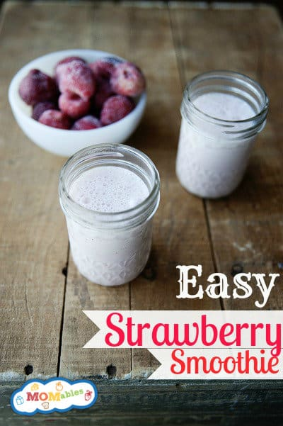 Power Breakfast: Easy Strawberry Smoothie