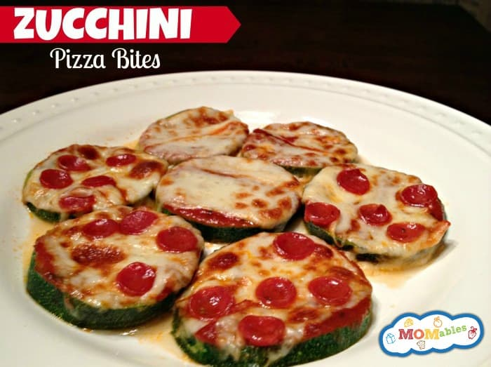 zucchini pizza bites low carb gluten free via MOMables.com