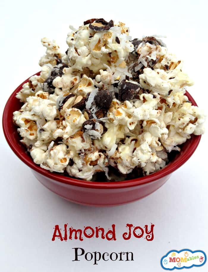 Almond-Joy-Popcorn -super easy to make and delicious!