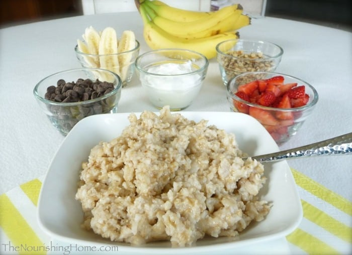Banana Split Oatmeal Buffet