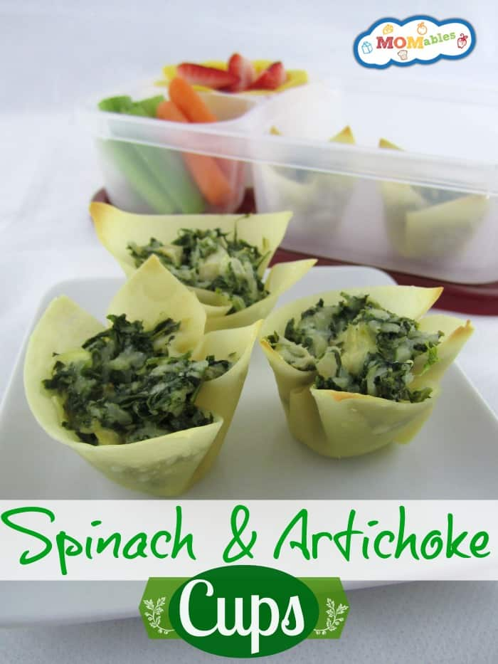 Spinach & Artichoke Cups MOMables.com