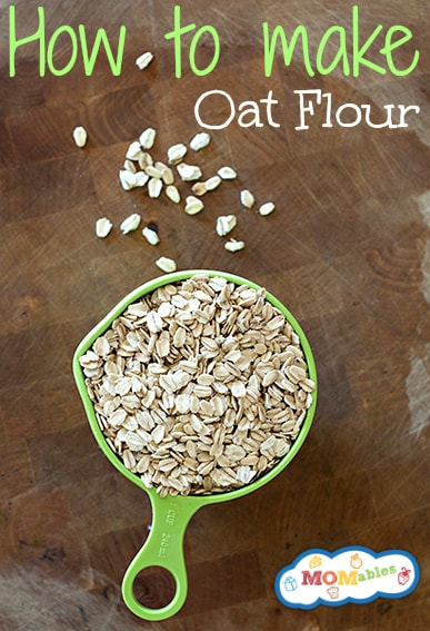 how to make oat flour MOMables.com