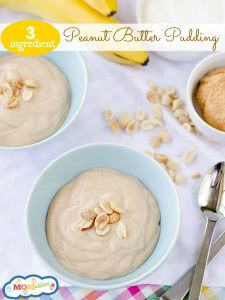 Easy 3 ingredient peanut butter pudding MOMables.com