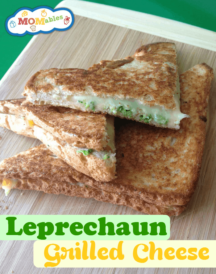 St Patrick's Day School Lunch Idea: Leprechaun Grilled Cheese