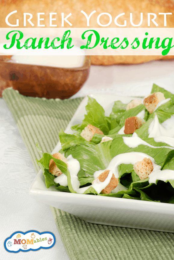 Greek Yogurt Ranch Dressing - MOMables.com 2
