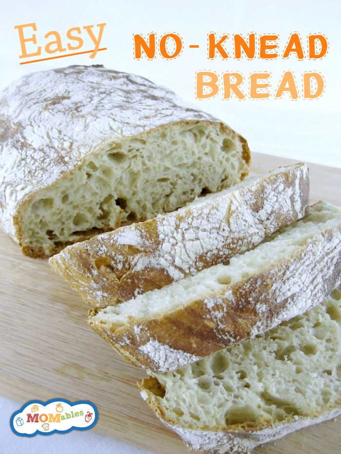 Easy No-Knead Bread Recipe perfect for the lunch box MOMables.com