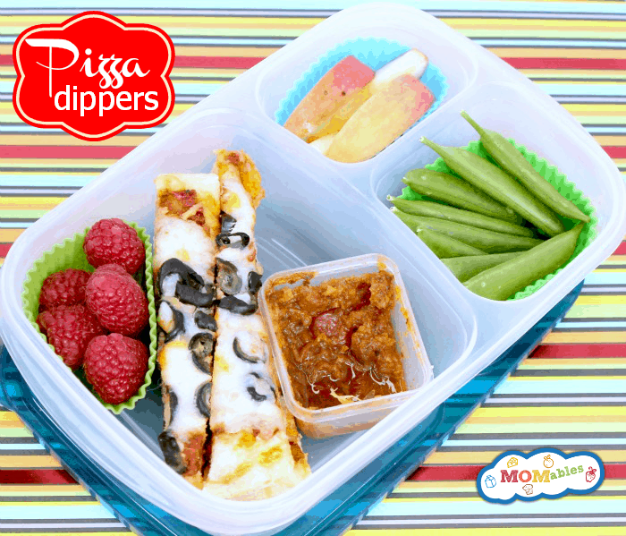 Summer Camp School Lunch Idea Pizza Dippers