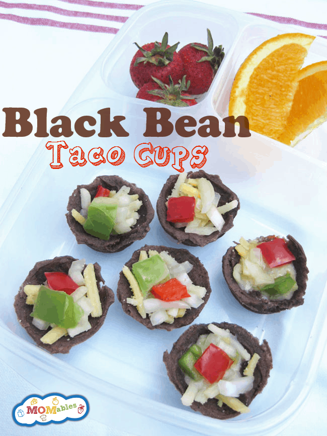 black beans taco cups recipe so easy to make and they are a great lunch idea!