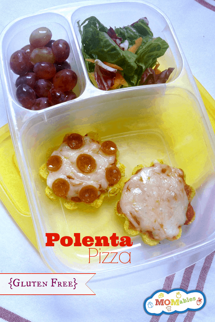 Polenta Pizza Bites #glutenfree #lunch #kidfood