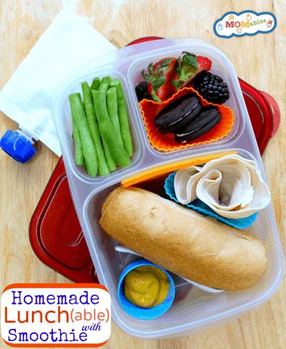 Healthy homemade lunch ables with smoothie for Easy diy lunches