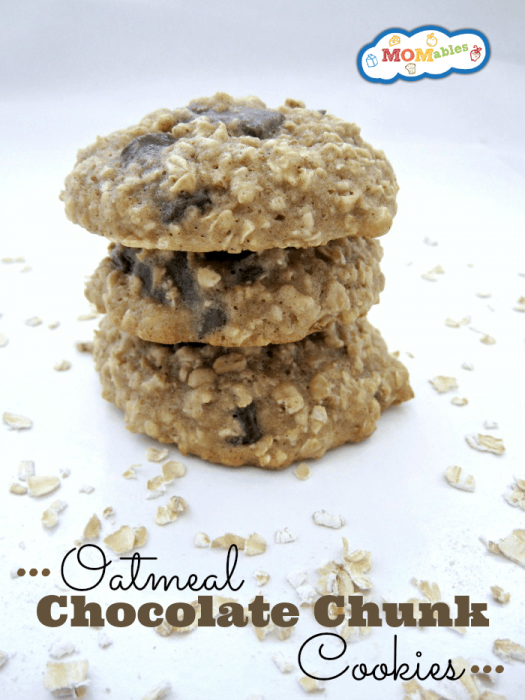Oatmeal Chocolate Chunk Cookies (reduced fat) - made with applesauce