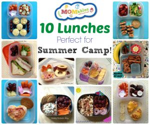 momables camp lunches menu plan