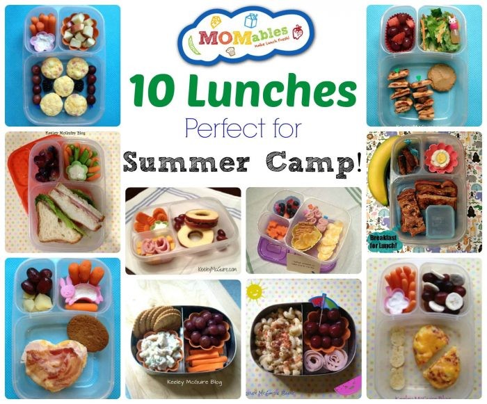 momables summer camp lunches menu plan