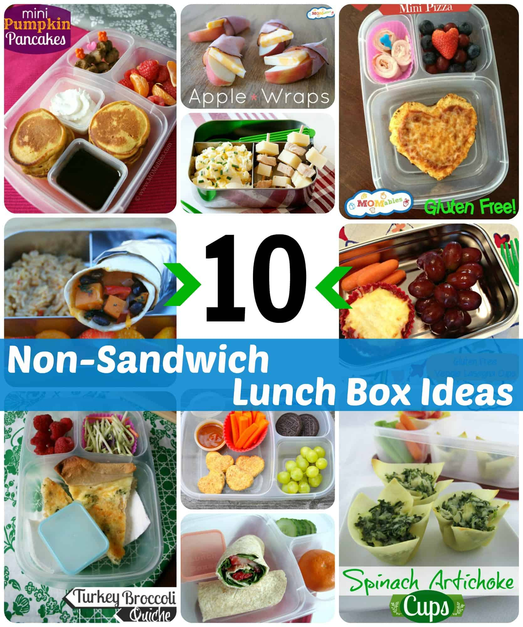 10 non-sandwich lunch box ideas recipes via momables.com