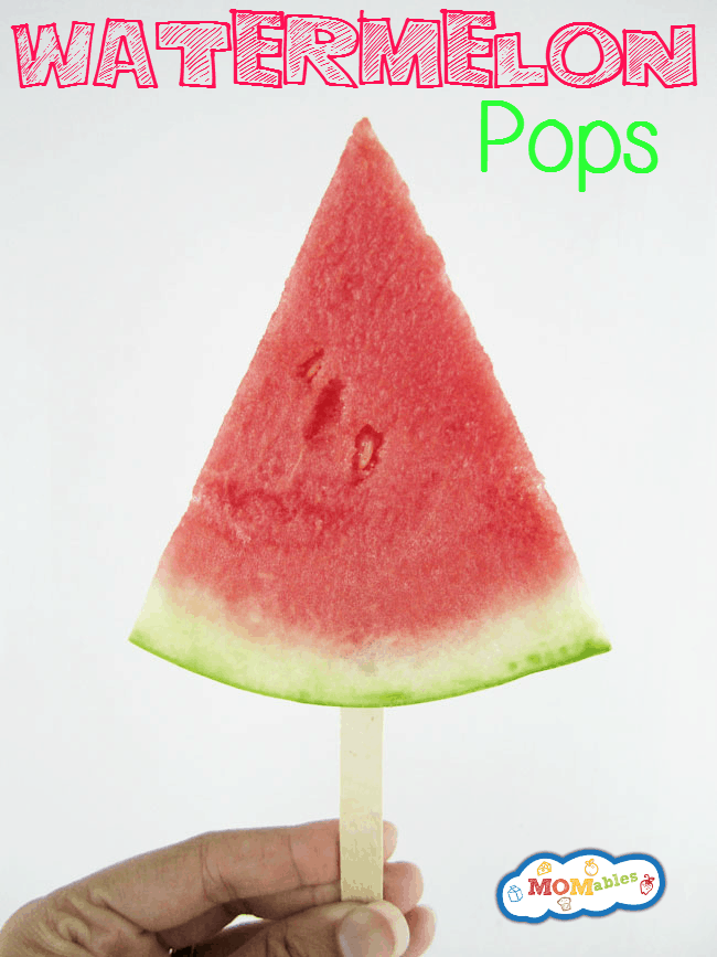 what an easy snack! these watermelon pops are fun to make and eat!