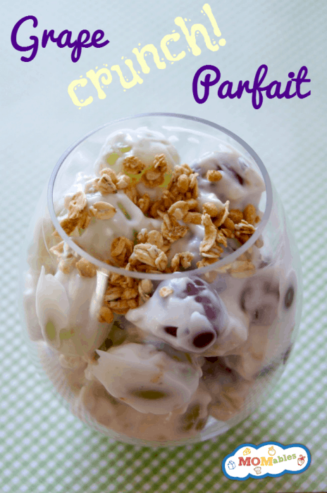 grape yogurt granola parfaits are a perfect healthy snack idea!