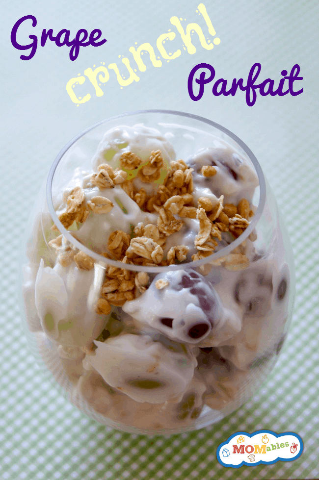 grape yogurt granola parfaits via MOMables.com