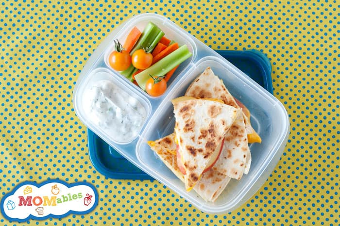 apple cheddar quesadilla recipe perfect for school lunches!