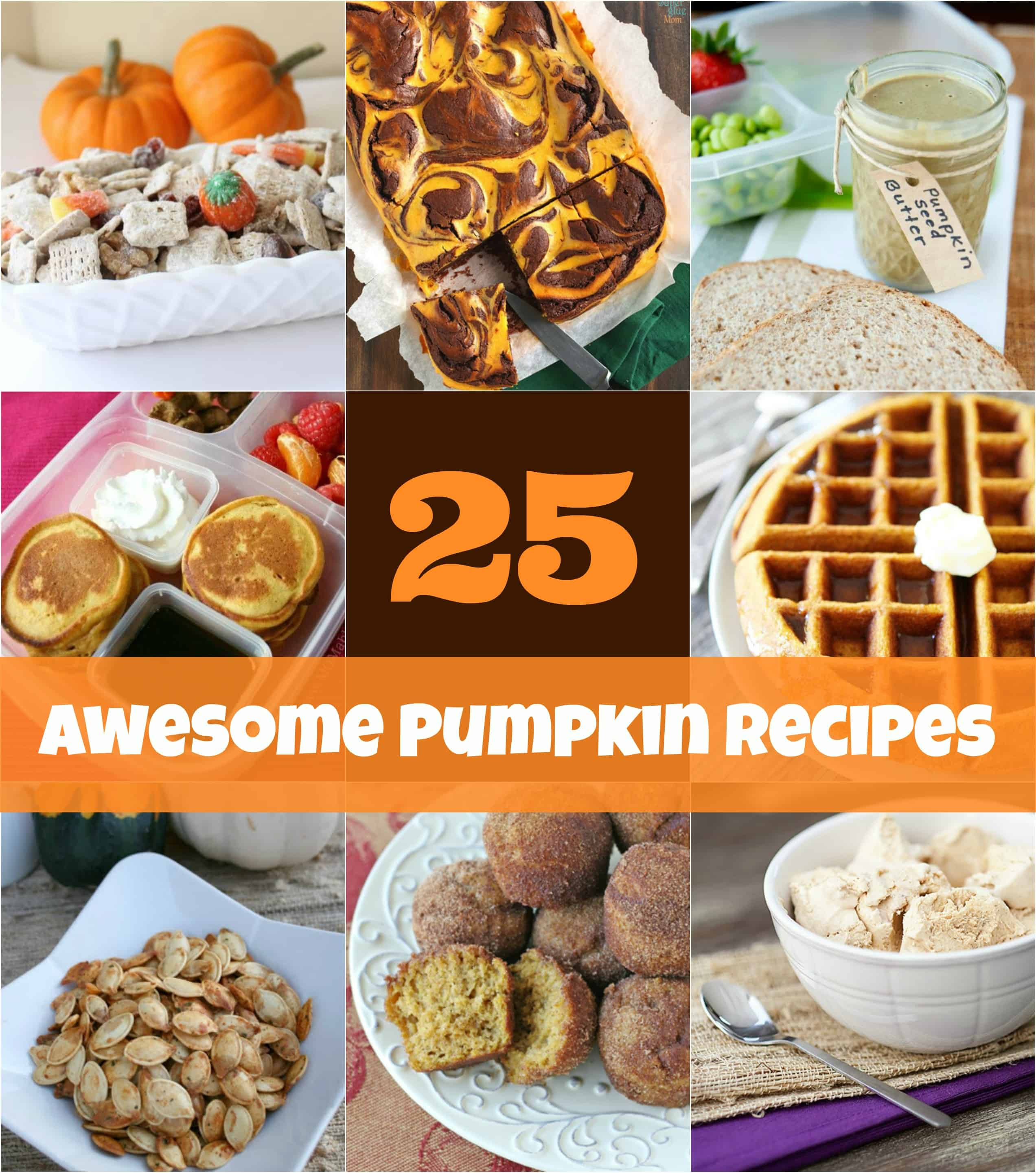 25 pumpkin recipes for fall - easy to make, from breakfast to lunch, dinner and treats! Recipes your whole family will love via MOMables.com